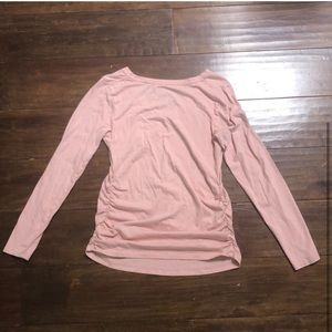 Isabel Maternity by Ingrid & Isabel Tops - MATERNITY light pink long sleeve top